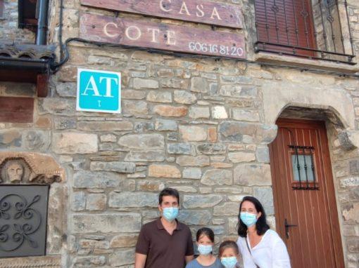 Juan Jose y familia en Casa Cote en Torla