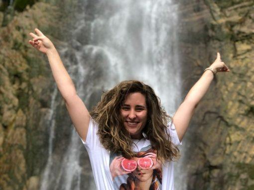 Cris, enfermera en La Paz de Madrid y Rafa están encantados con su visita a Sobrarbe